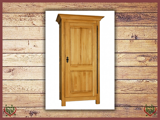 COUNTRY OAK 1 DOOR WARDROBE (Full Hanging Space) | Paul Martyn Furniture UK