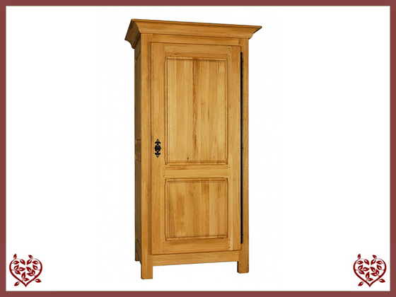 COUNTRY OAK 1 DOOR WARDROBE (Full Hanging Space) - paul-martyn-furniture