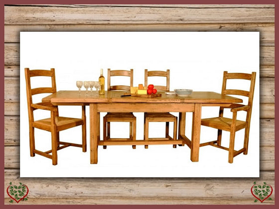 HERITAGE OAK EXTENDABLE DINING TABLE Paul Martyn Furniture UK