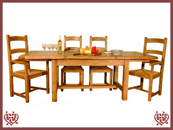 HERITAGE OAK EXTENDABLE DINING TABLE - paul-martyn-furniture