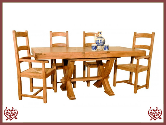 HERITAGE OAK EXTENDING DINING TABLE