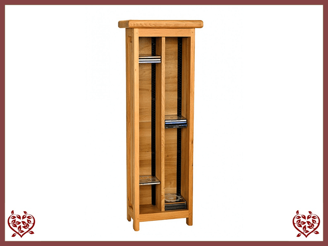 COUNTRY OAK CD TOWER | Paul Martyn Furniture UK