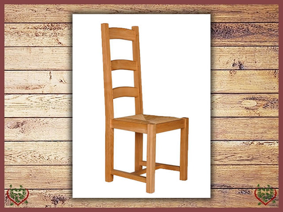 COUNTRY OAK DINING CHAIR – RUSH SEAT Paul Martyn Furniture UK