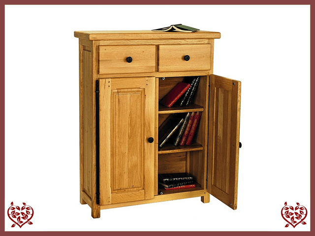 COUNTRY OAK LOW CUPBOARD | Paul Martyn Furniture UK