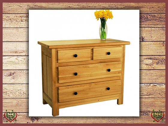 COUNTRY OAK 3 DRAWER CHEST | Paul Martyn Furniture UK