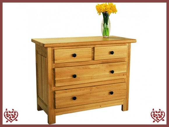 COUNTRY OAK 3 DRAWER CHEST