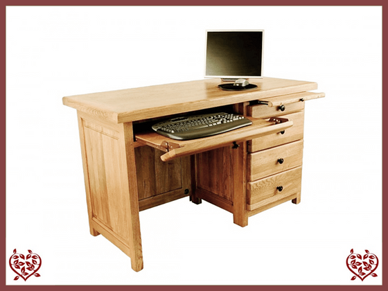 COUNTRY OAK 3 DRAWER DESK - paul-martyn-furniture