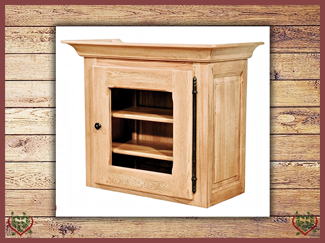 COUNTRY OAK CABINET TOP (GLAZED) | Paul Martyn Furniture UK