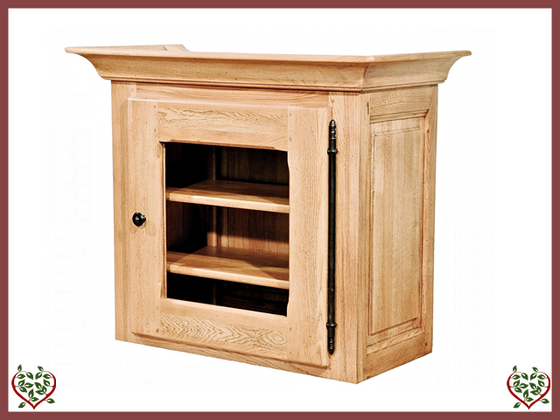 COUNTRY OAK CABINET TOP (GLAZED) - paul-martyn-furniture