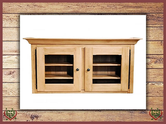 COUNTRY OAK DOUBLE CABINET TOP (GLAZED)