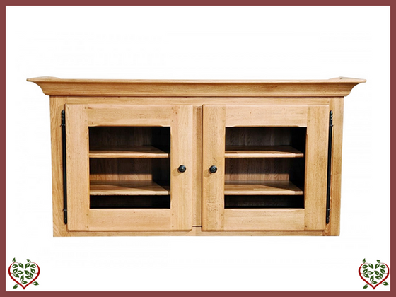 COUNTRY OAK DOUBLE CABINET TOP (GLAZED) - paul-martyn-furniture