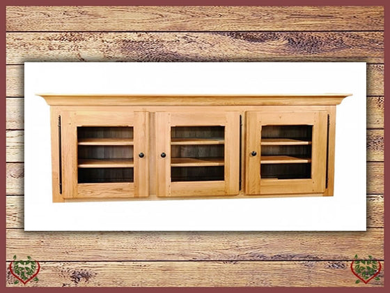 COUNTRY OAK TRIPLE CABINET TOP (GLAZED) | Paul Martyn Furniture UK
