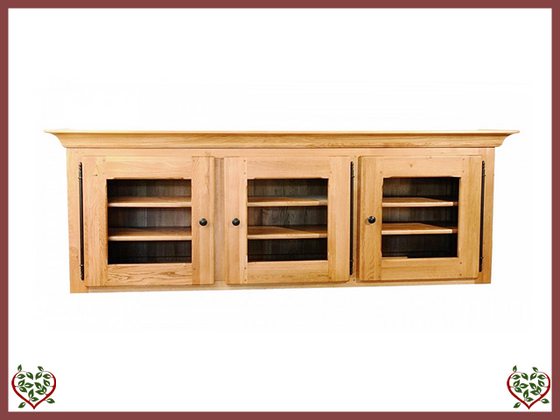 COUNTRY OAK TRIPLE CABINET TOP (GLAZED) - paul-martyn-furniture