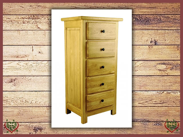 COUNTRY OAK 5 DRAWER CHEST | Paul Martyn Furniture UK