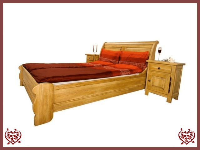 COUNTRY OAK KING SIZE BED (LOW FOOTBOARD) - paul-martyn-furniture