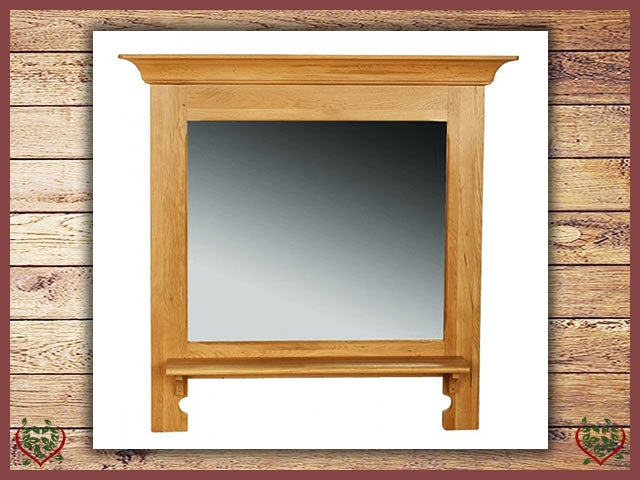 COUNTRY OAK WALL MIRROR | Paul Martyn Furniture UK