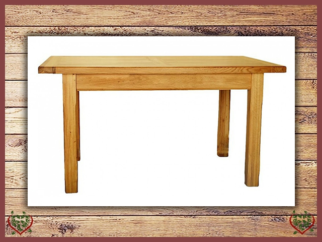 COUNTRY OAK 1.5 FIXED TOP DINING TABLE | Paul Martyn Furniture UK