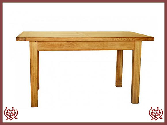 COUNTRY OAK 1.5 FIXED TOP DINING TABLE