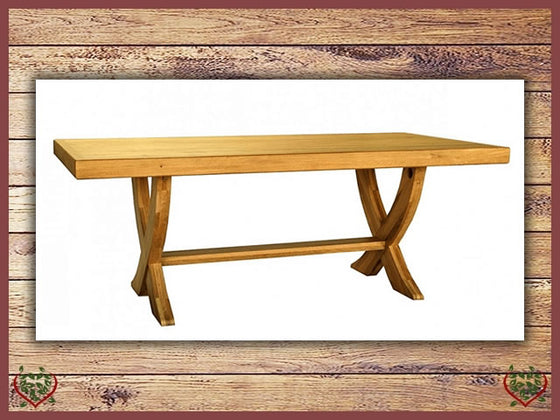 COUNTRY OAK MONASTER X LEG DINING TABLE Paul Martyn Furniture UK