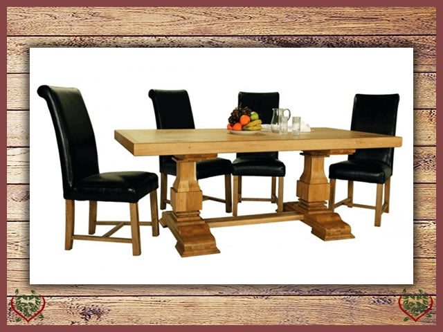 COUNTRY OAK SQUARE LEG DINING TABLE | Paul Martyn Furniture UK