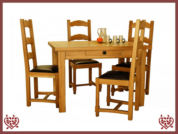 COUNTRY OAK FARMHOUSE TABLE WITH DRAWER - paul-martyn-furniture