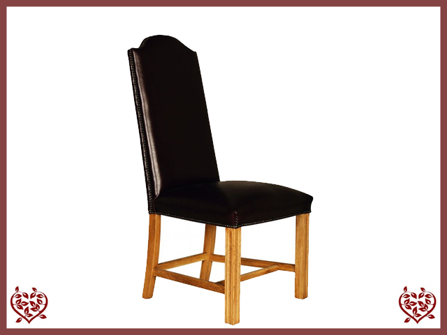 CATHEDRAL LEATHER OAK DINING CHAIR