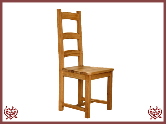 COUNTRY OAK SLAT DINING CHAIR