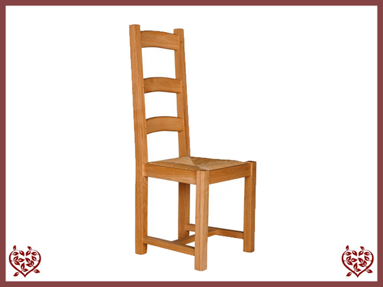 COUNTRY OAK DINING CHAIR – RUSH SEAT - paul-martyn-furniture