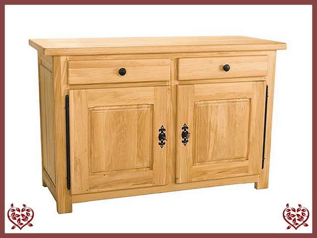 COUNTRY OAK SIDEBOARD 2 DOOR/2 DRAWERS