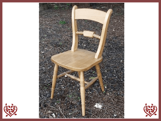 BAR BACK BEECH CHAIR Paul Martyn Furniture UK
