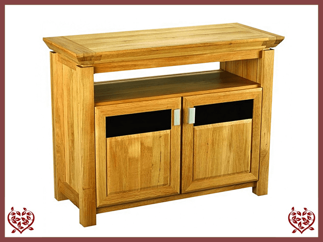 TEMPLE OAK ENTERTAINMENT UNIT, 2 DOORS