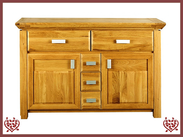 TEMPLE OAK 5 DRAWER/ 2 DOOR SIDEBOARD
