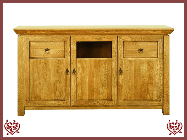 TEMPLE OAK SIDEBOARD, 3 DOORS/2 DRAWERS