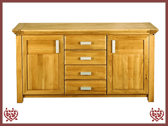 TEMPLE OAK SIDEBOARD, 2 DOORS/3 DRAWERS - paul-martyn-furniture