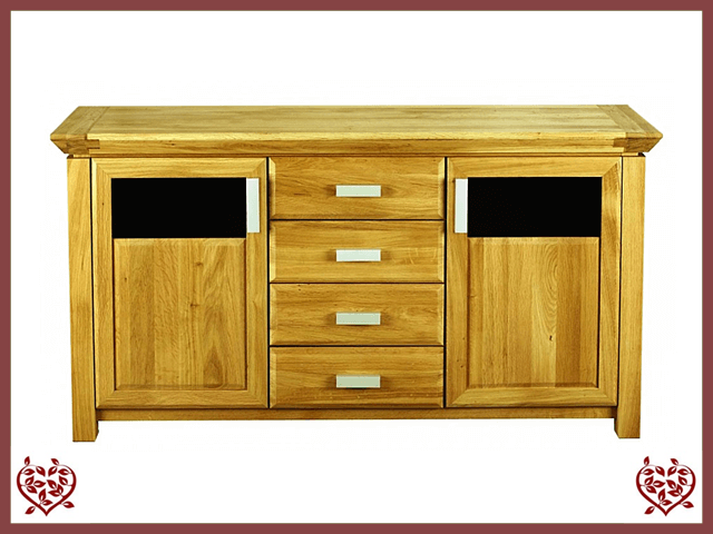 TEMPLE OAK SIDEBOARD, 2 DOORS/3 DRAWERS