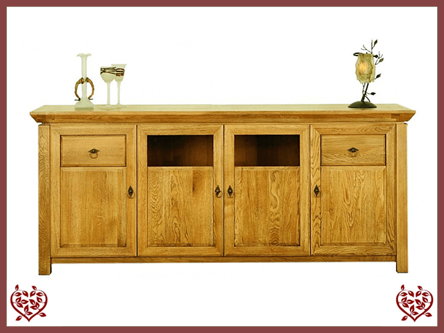TEMPLE OAK SIDEBOARD, 4 DOORS/2 DRAWERS