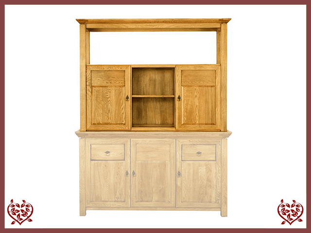 TEMPLE OAK CABINET TOP ONLY, 2 WOODEN DOORS