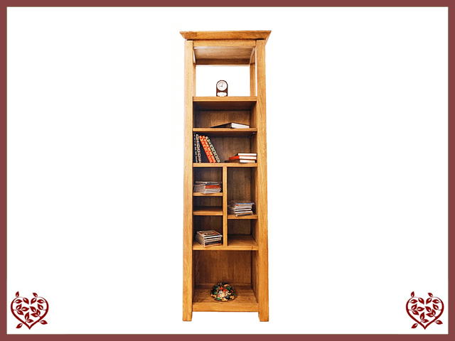 Incroyable TEMPLE OAK BOOKCASE/ DISPLAY CABINET