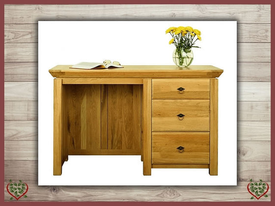 TEMPLE OAK DESK, 3 DRAWERS Paul Martyn Furniture UK