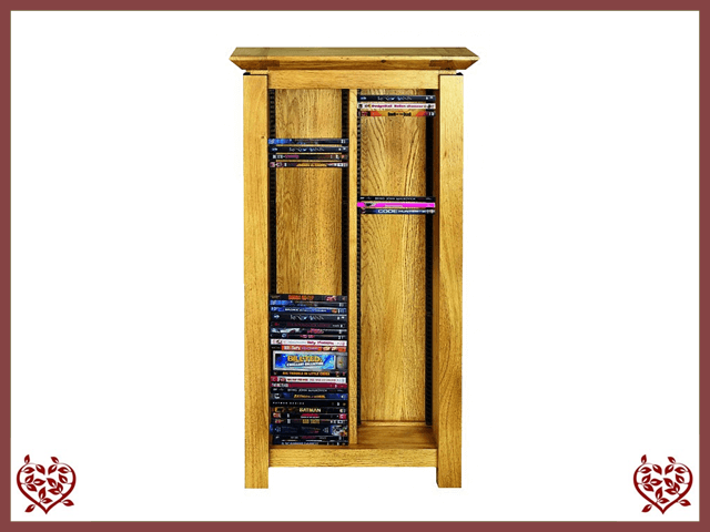 TEMPLE OAK DVD RACK - paul-martyn-furniture