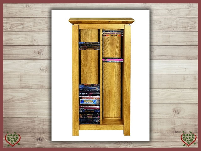 TEMPLE OAK DVD RACK