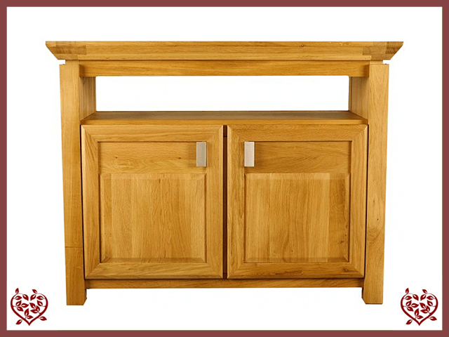 TEMPLE OAK ENTERTAINMENT UNIT, 2 DOORS | Paul Martyn Furniture UK