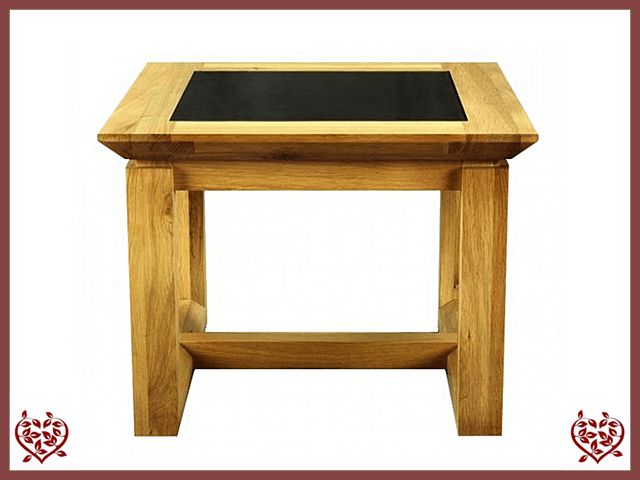 TEMPLE OAK LAMP TABLE, GLAZED TOP | Paul Martyn Furniture UK