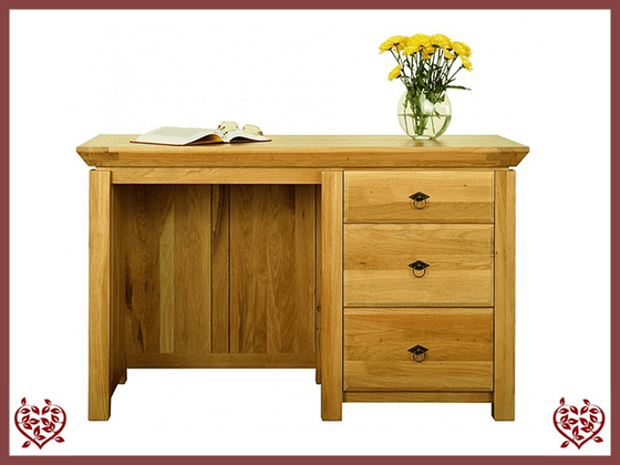 TEMPLE OAK DESK, 3 DRAWERS