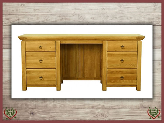 TEMPLE OAK DESK, 6 DRAWERS Paul Martyn Furniture UK