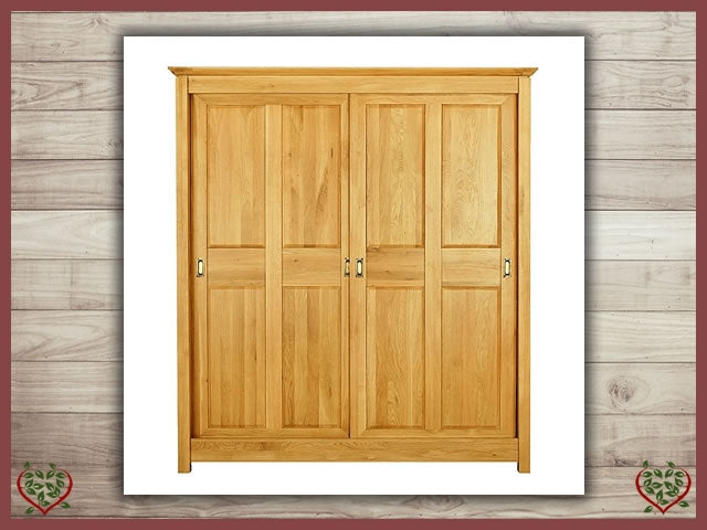 TEMPLE OAK WARDROBE, SLIDING DOORS | Paul Martyn Furniture UK