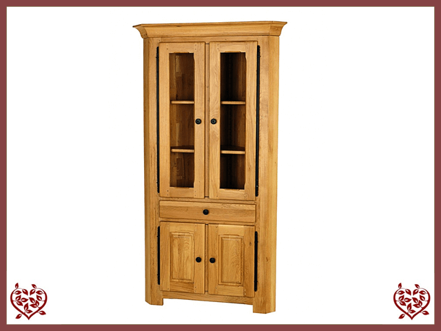 COUNTRY OAK CORNER BOOKCASE