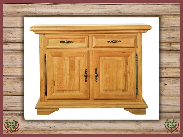 COURTIER OAK SIDEBOARD, 2 DOORS/2 DRAWERS Paul Martyn Furniture UK