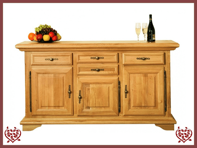 COURTIER OAK SIDEBOARD, 3 DOORS/4 DRAWERS