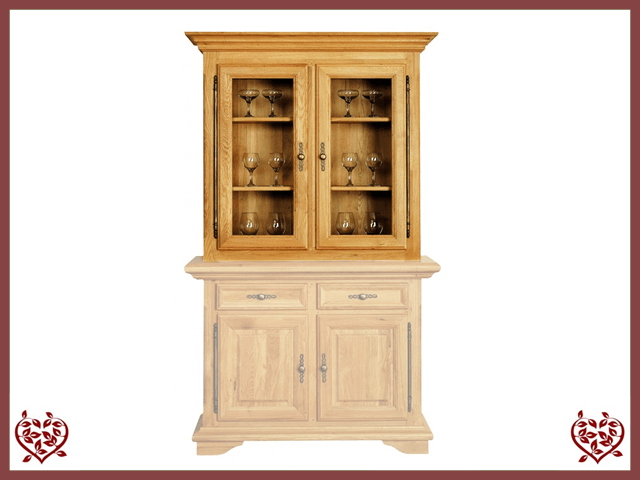 COURTIER OAK CABINET TOP ONLY – 2 DOORS